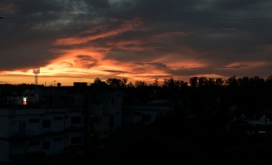 Sunset from our roof terrace