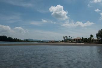 Looking back at Saladan from the Klong estuary