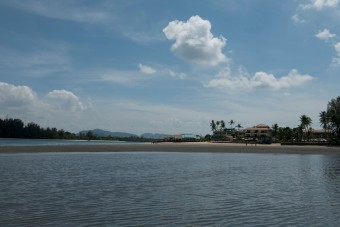 Looking back at Saladan from the Klong estuary