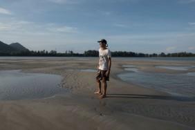Walking out at low tide along the Klong estuary, Koh Lanta.