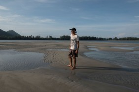 Walking out at low tide along the Klong estuary, Koh Lanta.