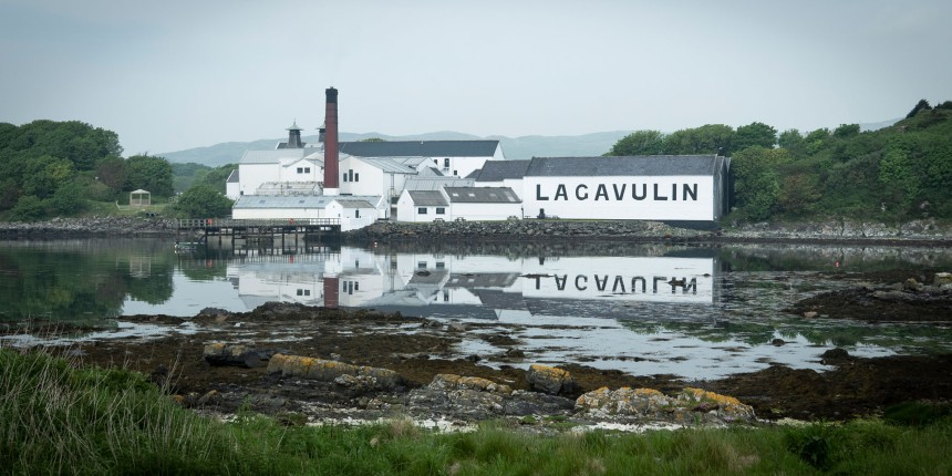 Lagavulin distillery on the south east coast.