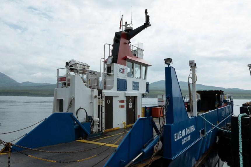 The Jura ferry.