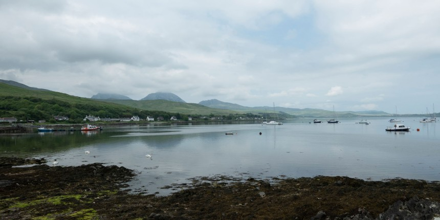 The bay at Craighouse, Jura.